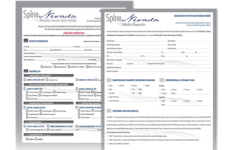 patient forms for vein nevada